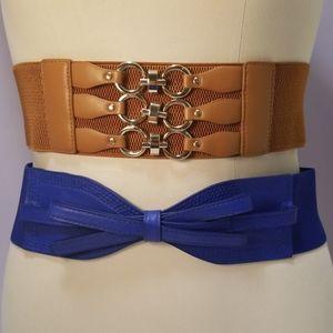 Accessories - 2 statement belts (wide)